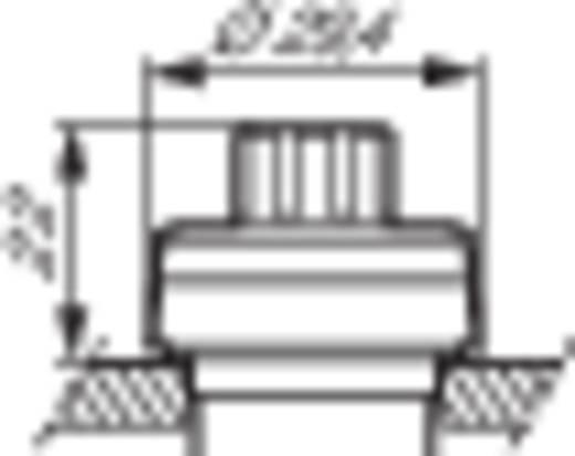 BACO L21RP03 Potentiometer aandrijving Kunststof frontring, Verchroomd Zwart, Chroom 1 stuks