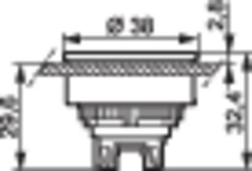 BACO L23AH10 Druktoets Metalen frontring, Verchroomd Zwart 1 stuks
