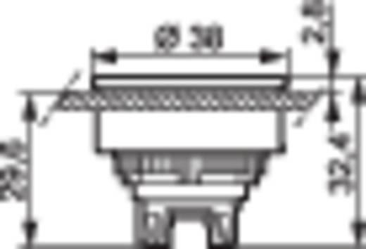 BACO L23AH50 Druktoets Metalen frontring, Verchroomd Zwart 1 stuks