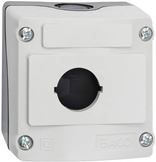 BACO BALBX0100 Lege behuizing 1 inbouwplaats (l x b x h) 74 x 74 x 47.9 mm Grijs-zwart 1 stuks