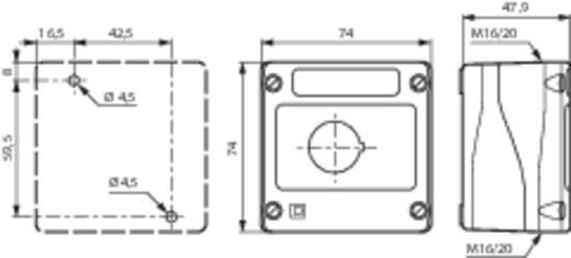 BACO BALBX0100J Lege behuizing 1 inbouwplaats (l x b x h) 74 x 74 x 47.9 mm Geel-zwart 1 stuks