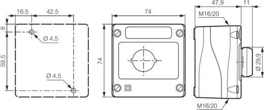 Druktoets In behuizing 240 V/AC 2.5 A 1x NO BACO LBX10110 IP66 1 stuks