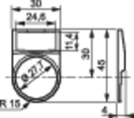 BACO LWP29 Toetsring voor opschrift (b x h) 30 mm x 69 mm Zwart 1 stuks