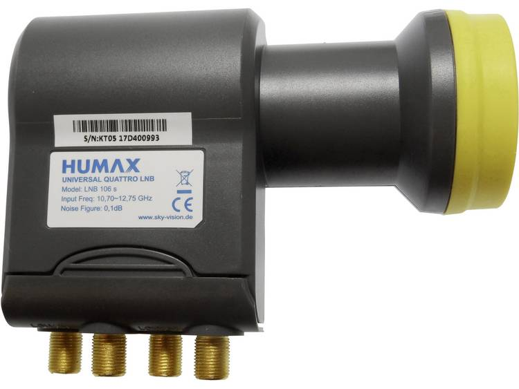 Humax 106s-B Quattro-LNB Feed-opname: 40 mm vergulden aansluiting