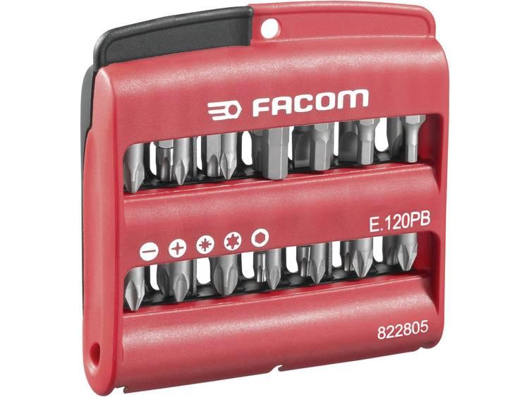 Facom E.120PB Bitset 28-delig Kruiskop Phillips, Kruiskop Pozidriv, Inbus, Torx