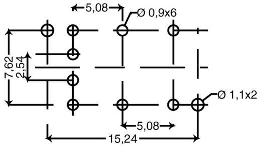 604102 Druktoets 12 V 0.03 A 1x uit/(aan) schakelend 1 stuks