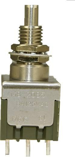 NKK Switches MB2085SS1W01 Drukschakelaar 250 V/AC 3 A 2x aan/aan vergrendelend 1 stuks