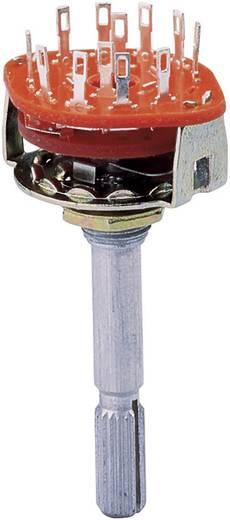 SR2511F-0403 Wisselschakelaar 125 V 0.5 A Schakelposities 3 3 x 30 ° 1 stuks