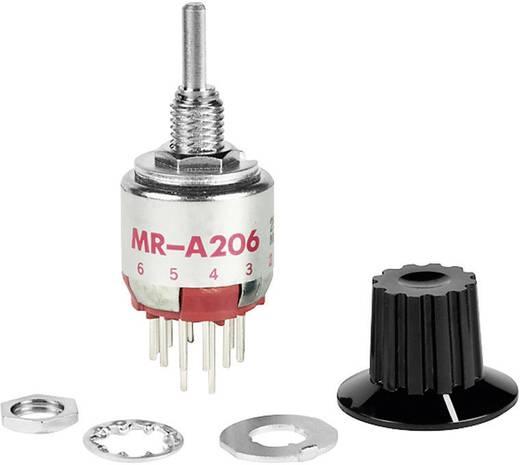 NKK Switches MRA206-A Draaischakelaar 125 V/AC 0.25 A Schakelposities 6 1 x 30 ° 1 stuks