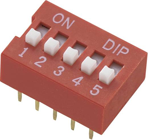 TRU Components DS-04 DIP-schakelaar Aantal polen 4 Standaard 1 stuks