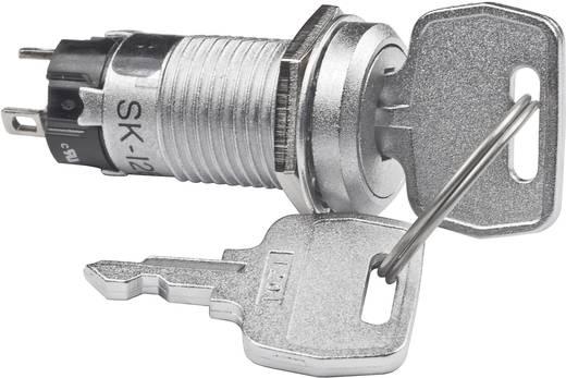 NKK Switches SK12BAW01 Sleutelschakelaar 250 V/AC 1 A 1x aan/aan 1 x 90 ° 1 stuks