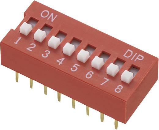 Conrad Components DS-08 DIP-schakelaar Aantal polen 8 Standaard 1 stuks