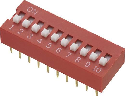 Conrad Components DS-10 DIP-schakelaar Aantal polen 10 Standaard 1 stuks