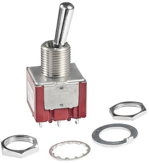 NKK Switches P2012B Tuimelschakelaar 250 V/AC 6 A 1x aan/aan vergrendelend 1 stuks