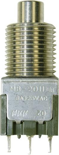 NKK Switches MB-2011L/B-N7C Druktoets 250 V/AC 3 A 1x aan/(aan) schakelend 1 stuks