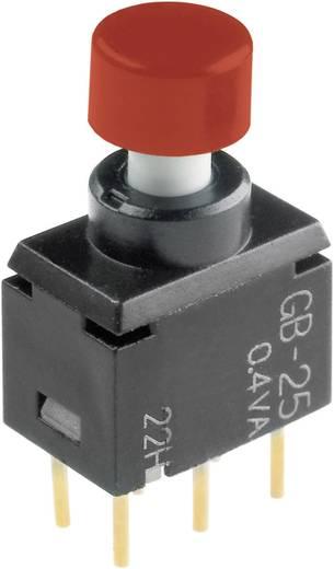 NKK Switches GB25AH Druktoets 28 V DC/AC 0.1 A 2x aan/(aan) schakelend 1 stuks