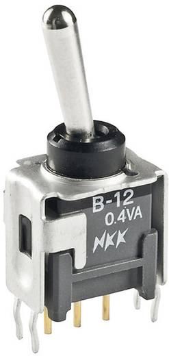NKK Switches B12AB Tuimelschakelaar 28 V/DC 0.1 A 1x aan/aan vergrendelend 1 stuks