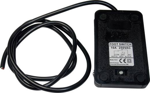FS-01 Voetschakelaar 250 V/AC 10 A 1 pedaal 1x wisselaar 1 stuks
