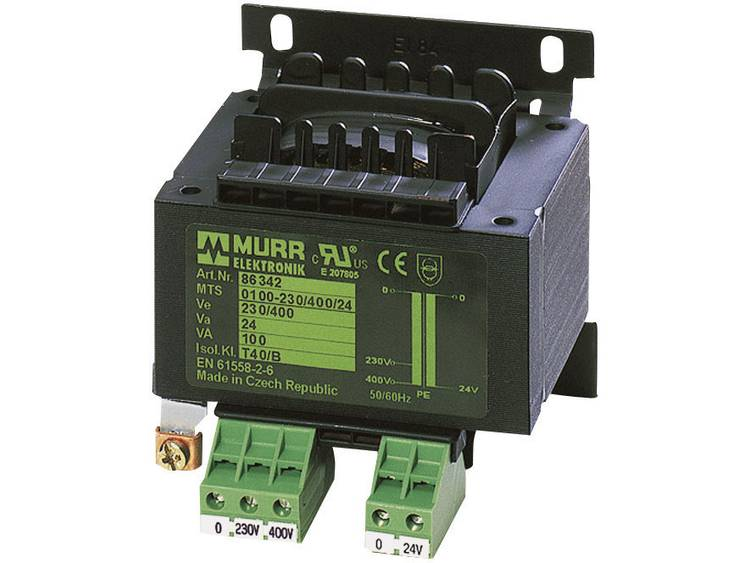 Murr Elektronik 86328 Veiligheidstransformator 1 x 230 V 400 V 1 x 24 V AC 500