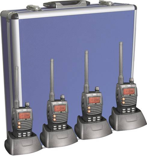 Team Electronic PMR-portofoon TeCom-X5 Set van 4
