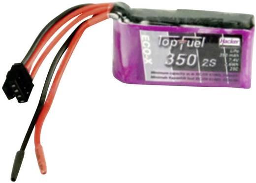 LiPo accupack 7.4 V 350 mAh 25 C Hacker Open kabeleinden
