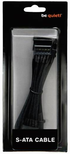 BeQuiet Stroom Aansluitkabel [4x SATA-stroomstekker - 1x bequiet! stroomaansluiting modulair] 0.72 m Zwart