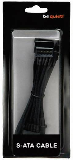 BeQuiet Stroom Aansluitkabel [4x SATA-stroomstekker - 1x bequiet! stroomaansluiting modulair] 0.90 m Zwart