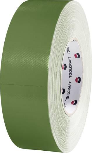 TOOLCRAFT 80DT Pantsertape Olijf-groen (l x b) 50 m x 50 mm Rubber Inhoud: 1 rollen