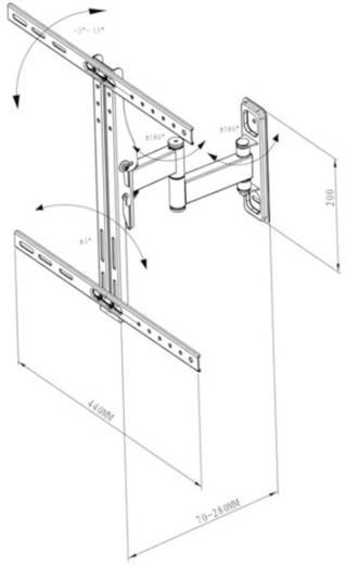 "Vivanco WM 4725 TV-beugel 81,3 cm (32"") - 119,4 cm (47"") Kantelbaar en zwenkbaar, Roteerbaar"