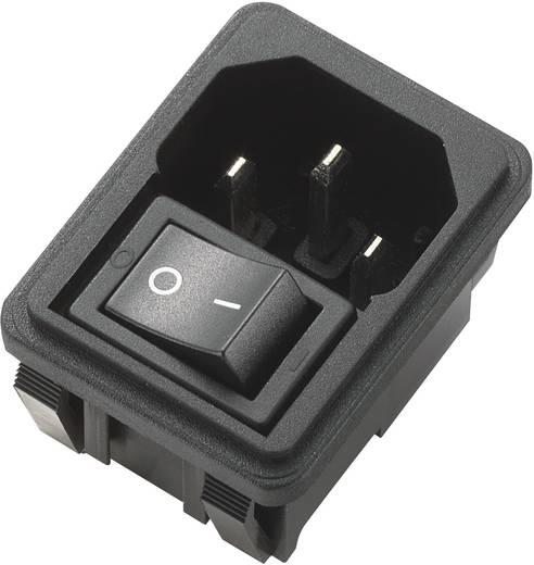 Apparaatstekker C14 Stekker, inbouw verticaal Totaal aantal polen: 2 + PE 10 A Zwart 1 stuks