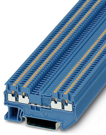 Phoenix Contact PT 1,5/S-QUATTRO BU PT 1,5/S-QUATTRO BU - doorgangsserieklem Blauw Inhoud: 50 stuks