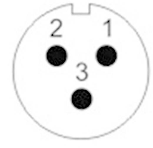 Push-pull coaxiaalsteker IP67 Flensstekker Weipu SF1213/P3 IP67 Aantal polen: 3