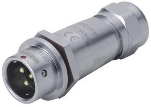 Push-pull coaxiaalsteker IP67 Aantal polen: 6 Kabelsteker 5 A SF1211/P6 II Weipu 1 stuks