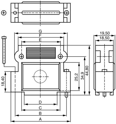 BKL Electronic 10120248 D-SUB behuizing Aantal polen: 15 Kunststof, gemetalliseerd 180 ° Zilver 1 stuks