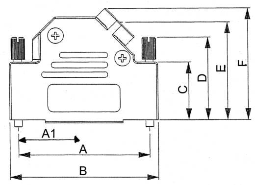 ASSMANN WSW AMET-15 RS-45 D-SUB behuizing Aantal polen: 15 Metaal 45 ° Zilver 1 stuks
