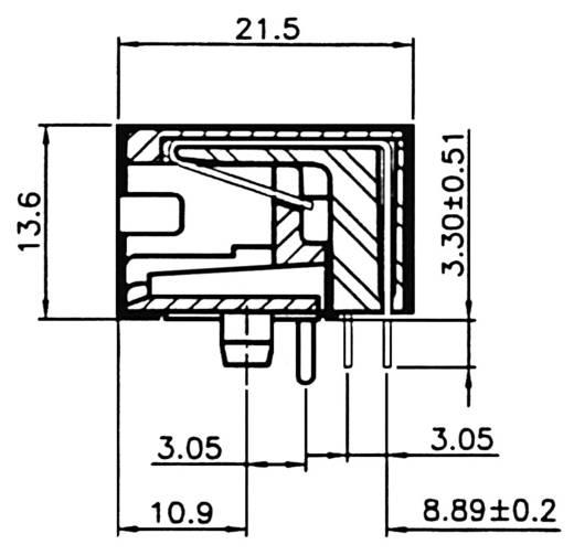 Modulaire inbouwbus Bus, inbouw horizontaal Modelbus 8 polig afgeschermd<b