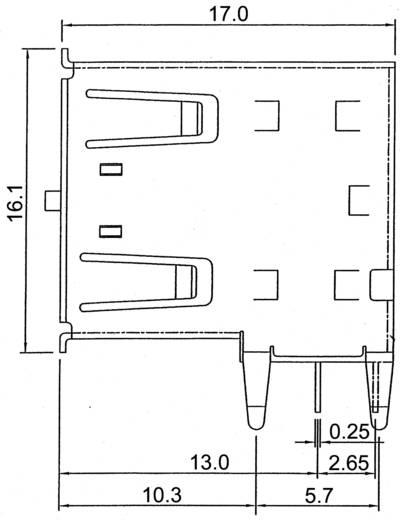 Bus, inbouw A-USB A-2P USB A ASSMANN WSW 1 stuks
