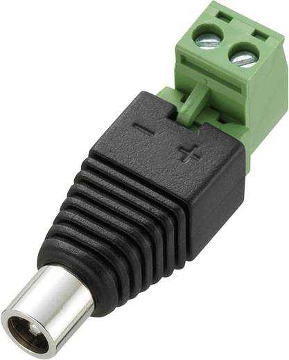 Conrad Components DC12-F Laagspannings-connector Bus, recht 5.5 mm 5.5 mm 2.1 mm 1 stuks