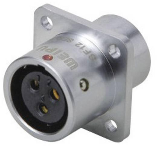 Push-pull coaxiaalsteker IP67 flensbus Weipu SF1213/S9 IP67 Aantal polen: 9
