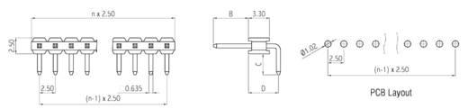 Male header (standaard) Aantal rijen: 1 Aantal polen per rij: 10 W & P Products 243-12-010-2-00 1 stuks