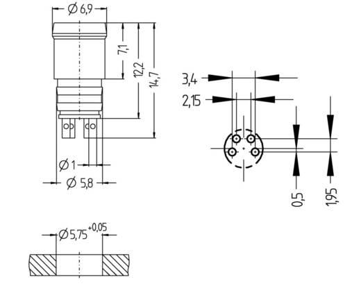 Escha ESP4S M8 inbouwstekker Aantal polen: 4 Inhoud: 1 stuks