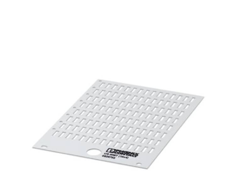 Adermarkering Montagemethode: Schuiven Markeringsvlak: 10 x 4 mm Geschikt voor serie Phoenix Contact PATG Wit Phoenix Contact US-WMT (10X4) 0828765 Aantal