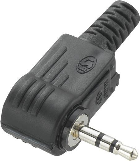 Jackplug 2.5 mm Stekker, haaks Conrad Components Stereo Aantal polen: 3