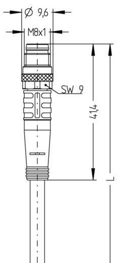 """Escha AL-SWKP4-2-AL-SSP4/S370 M8 sensor-/actorkabel """"AUTOMATION LINE"""" verbindingskabel Aantal polen: 4 Inhoud: 1 stuks"""