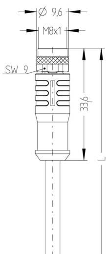 """Escha AL-SKPS3-2/S370 M8 sensor-/actorkabel """"automation line"""" Inhoud: 1 stuks"""
