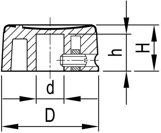 OKW A1321260 Draaiknop Aluminium, Zwart (Ø x h) 21 mm x 10 mm 1 stuks