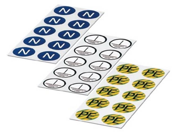 ETS-E - Sticker ETS-E Wit Phoenix Contact Inhoud: 100 stuks