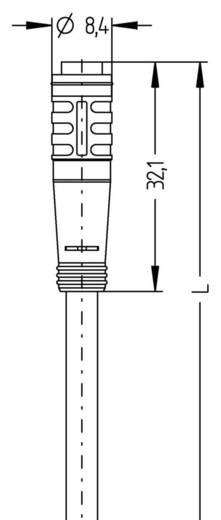 "Escha AL-KP4-5/P00 8052691 M8 sensor-/actuatorkabel ""automation line"" Inhoud: 1 stuks"