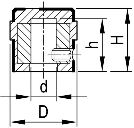 OKW A1416449 Draaiknop Aluminium (Ø x h) 15.9 mm x 15 mm 1 stuks