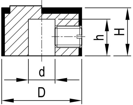 OKW A1412461 Draaiknop Aluminium (Ø x h) 12 mm x 7.1 mm 1 stuks